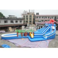 Wholesale Octopus / Jungle Inflatable Hurricane Backyard Water Slide With Obstacle Course from china suppliers