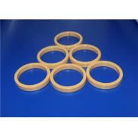 Wholesale High Precision 95% - 99.5% Alumina Ceramic Seal Rings Yellow / White from china suppliers