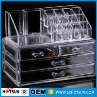 Wholesale PS or Acryic Lipsticker holder, Acrylic makeup organizer with four drawer from china suppliers