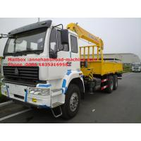 Wholesale SINOTRUK HOWO Truck Mounted Crane 6X4 RHD 12 Tons With Warranty And Spare Parts from china suppliers