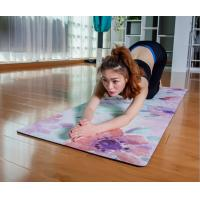 China E-commerce customer supply PU natural rubber rubber yoga mat + body line custom sweat-absorbing anti-skid pad on sale