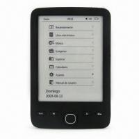 Wholesale 6-inch E-book Reader with AllWinner E200, 800 x 600 Resolution and 2 Speakers, Supports DRM from china suppliers