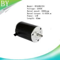China BY42BLY01  24V DC 11W   0.04N.m Brushless DC motor on sale