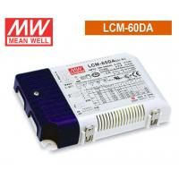 China 60W 500mA Meanwell LED Driver Dimmable , 0-10V Dimming LED Driver 80ms / 230VAC on sale