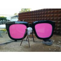 Wholesale Metal Sculpture Art Giant Sunglasses Sculpture Stainless Steel With Pink Glasses from china suppliers