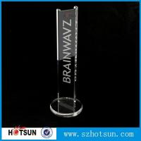 Wholesale earphone stand acrylic crystal clear fits virtually all earphones from china suppliers