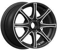 Wholesale 7 Spoke Chrome 14 Inch Alloy Wheels with 4 / 5 Hole in Machine KIN-453 from china suppliers