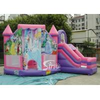 6x5m Commercial Kids Party Inflatable Princess Bouncy Castles With Slide From Sino Inflatables for sale