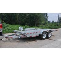 Wholesale Double Axles 20x6 Flatbed Tandem Car Carrier Trailer , Car Transporter Trailer from china suppliers