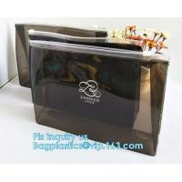 Buy cheap PP Plastic Slider Zip Lock A4 Doucment Files Holder Bag, zip lock bag with plastic slider & business card holder,Makeup from wholesalers