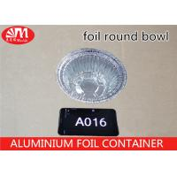 China A016 Aluminum Foil Container Round Pan Round Bowl 18.3cm x 18.3cm x 6.6cm 750ml volume on sale
