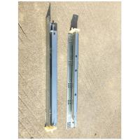 1.4*1.4mm Undermount Drawer Slides , Kitchen Cabinet Drawer Slides Push To Open for sale