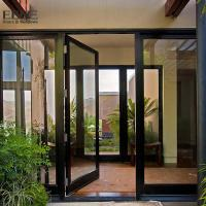 Wholesale Double Access Aluminum Entrance Door / Thermal Break Aluminium Swing Door from china suppliers
