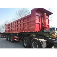 China 60 Ton 45 Ft 40 CBM Tipper Dump Truck And Trailer For Coal Sand Transport on sale