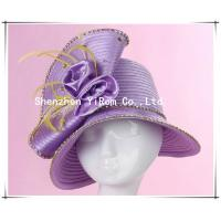 China YRSM13100 satin ribbon hat, wedding hat, church hat,derby hat,occasion hat,race hat on sale