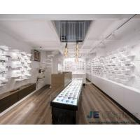 Wholesale Modern fashion design of pure white Eyeglass display cabinets and Glass showcase from china suppliers