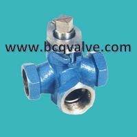 Wholesale X14W 3-Way Internal Thread Stainless Steel Plug Valve from china suppliers