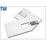 China Twister Metal Card USB Thumb Drives High Quality Digital Printing for sale