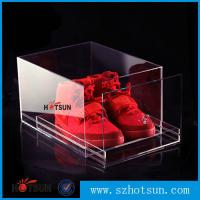 Wholesale 2016 New design acrylic shoe box/clear shoe box, Custom Shoe Box Manufacturer from china suppliers
