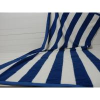 Factory Supply 100% cotton Yarn Dyed Jacquard Heavy Blue Stripe Pool Towel