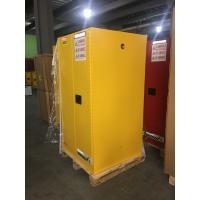 Wholesale Yellow Industrial Safety Cabinets , Flame Proof Storage Cabinets With Double Lock 60 galloncapacity from china suppliers