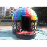 Kids N Adults Inflatable Music Disco Dome Bouncy Castle With Light Hooks On Top for sale