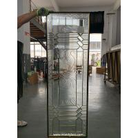 Wholesale No welding decorative glass panels with brass caming for door inserts 1 thickness from china suppliers