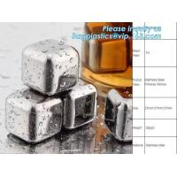 Wholesale stainless steel whisky stones free sample reusable metal ice cubes, Stainless Steel Whiskey Chilling Rocks Ice Cube Whis from china suppliers
