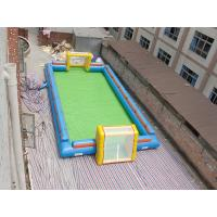 Quality Exciting Water Inflatable Soccer Field , Football Inflatable Soap Court for Kids for sale