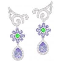 Wholesale Luxury Stylish Earrings Multicolor Crystal Drop Earrings For Women Design from china suppliers