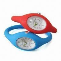 Wholesale Silicone Analog Wristwatch with Japan Quartz Movement, Leisure Design, OEM Order are Welcome from china suppliers