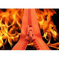 Buy cheap Plastic Fire Retardant Zipper for Fireman Suits, meeting EN 469 standards from wholesalers
