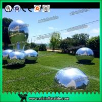 Wholesale Silver Fabric Inflatable Mirror Ball Fire - Retardant For Fashion Show Decoration from china suppliers