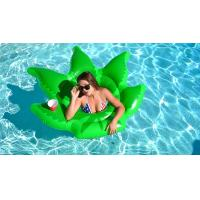 "Wholesale Float On Weed Leaf Inflatable Pool Floats Envirnomental PVC Pool Party Toys 64*64"" from china suppliers"
