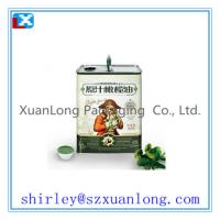 Wholesale 5L rectangular metal olive oil tin cans from china suppliers