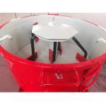 China 250kgs Refractory Concrete Pan Mixer / Concrete Batch Mixer Red Color for sale