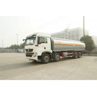 China Left Driving 8X4 Diesel Fuel Tank Trailer / Heavy Duty Truck Fuel Tanks for sale