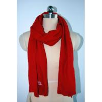 Buy cheap OEM Knitting Patterns Accessories Ladies Red Scarf Anti Shrink from wholesalers
