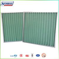 Quality G4 Gas Turbine HVAC Disposable Pleated Panel Pre Air Filters Primary Synthetic Fiber for sale
