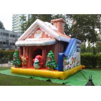 Wholesale Cuatomized 0.55mm PVC Merry Christmas Inflatable Santa Claus Bouncy Castle For Kids Play from china suppliers