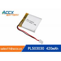 Wholesale 503030 3.7V 420mAh Small battery Lipo battery lithium polymer battery for digital devices,bluetooth speaker from china suppliers