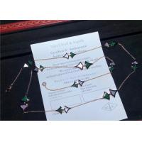 Wholesale Divas Dream 18K Gold Diamond Necklace With Malachite And White Shell from china suppliers