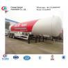 factory sale ASMEstandard lpg gas propane tanker trailer for export, 25metric tons bulk propane gas tank semitrailer for sale