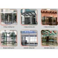 Glass holder Automatic Glass Sliding Doors With Aluminum Alloy Material W 800mm for sale