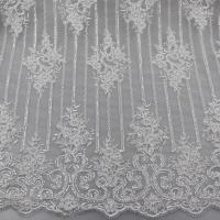 Wholesale Floral Corded Embroidered Sequin Lace Fabric For Bridal Gowns Dresses from china suppliers