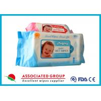 Wholesale Disposable No Fragrance Baby Wet Wipes 80pcs Flowpack With Lid Small Dot Spunlace from china suppliers
