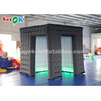 China Black Inflatable Cube Photo Booth For Advertising High Tear Strength on sale