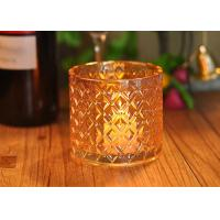 Wholesale Recycled Decorative Glassware Candle Jar Shiny Liquid Luster Finish from china suppliers