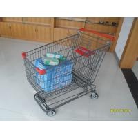 Wholesale 210L Asian Type Wire Shopping Trolley Wiht Grey Powder Coating from china suppliers