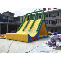 Buy cheap Inflatables Water Games , 10x5x6m Yellow Lake Floating Water Slide from wholesalers